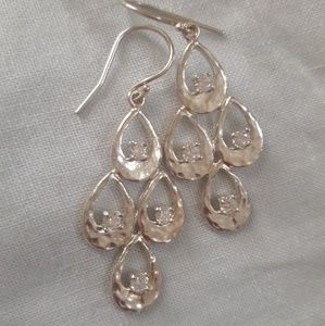 Sterling silver 925 chandelier earrings Opulenza